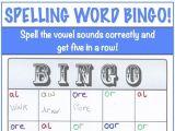 Spelling Word Bingo