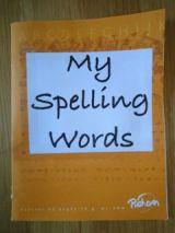 Spelling Words Booklet