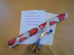 valentines poem activity step 1