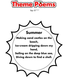 Summer Theme Poem