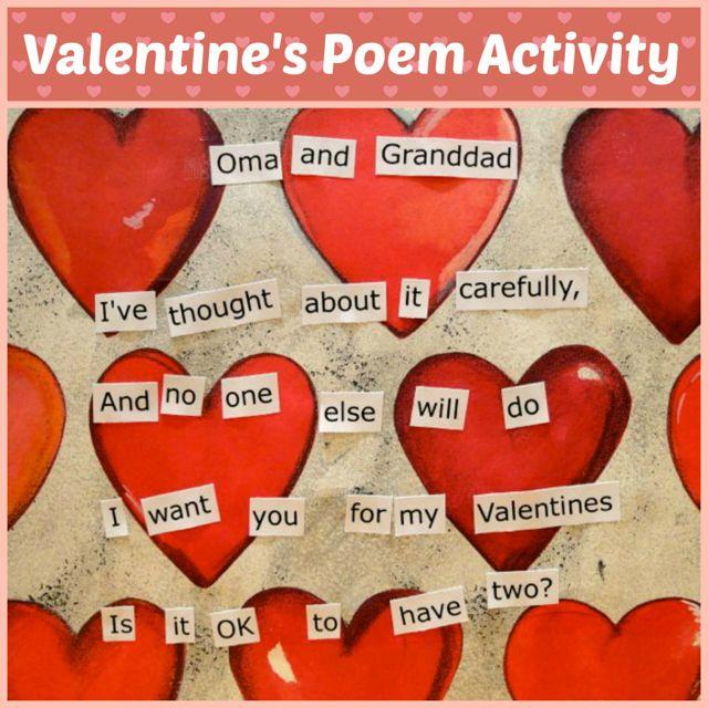 valentines poem activity