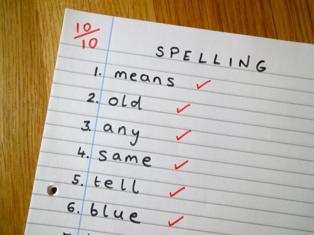 Spelling Word Lists