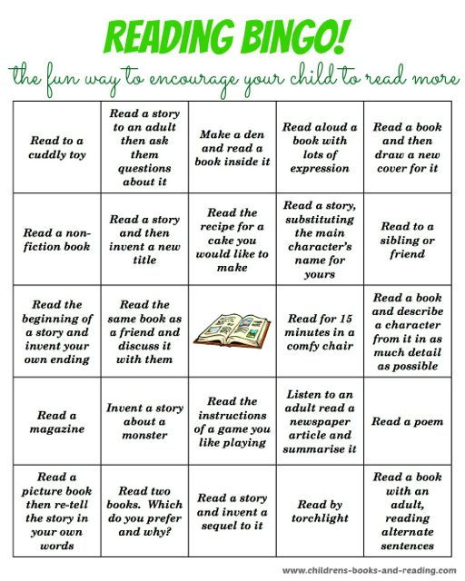 Bingo reading activity
