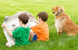 kids newspaper activity
