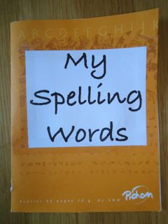 Spelling Words Booklet