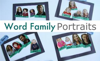 Word Family Portraits Game